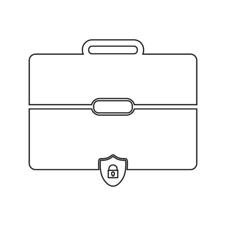 Business Insurance Icon. Line style vector EPS.