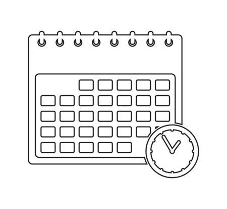 Calendar line Icon. Vector EPS.