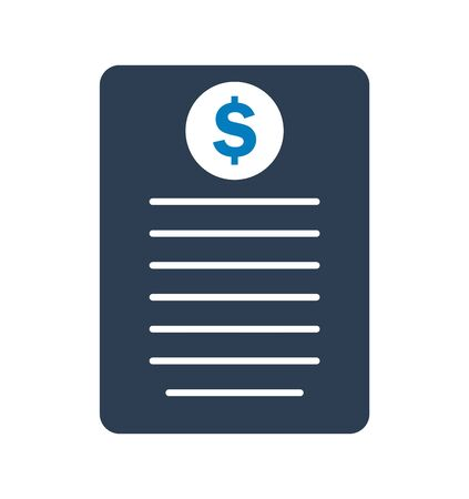 Invoice Icon.Flat style vector EPS.
