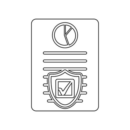 Insurance Icon. Line style vector EPS.