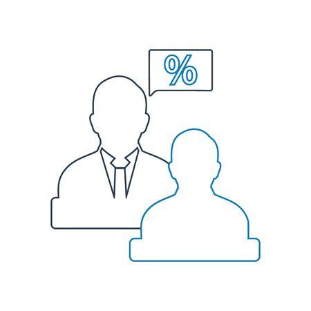Tax advisor icon. Line style vector EPS.
