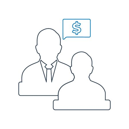 Business and financial advisor icon . Line style vector EPS.  Ilustrace