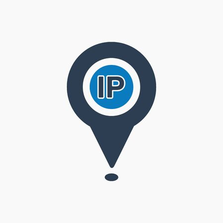 IP address icon. Flat style vector EPS. Banque d'images - 129016470
