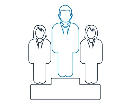 Business leader Icon. Line style vector EPS.  Ilustração