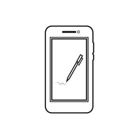 Electronic Signature line Icon. Editable vector EPS.