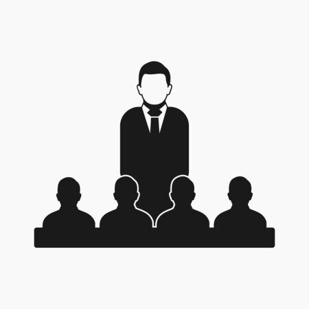 Leader icon. Flat style vector EPS. Stock fotó - 131567476