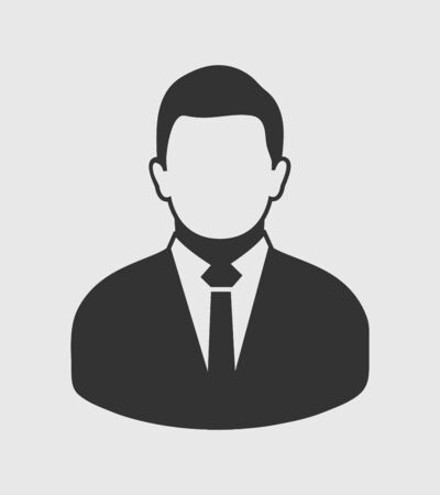 Corporate Man Icon. Flat style vector EPS.