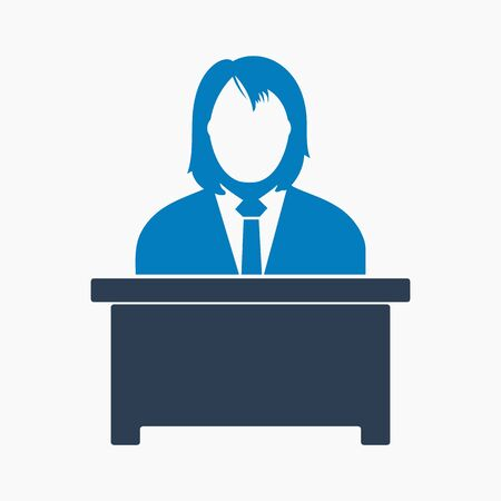 Manager Icon. Flat style vector EPS.