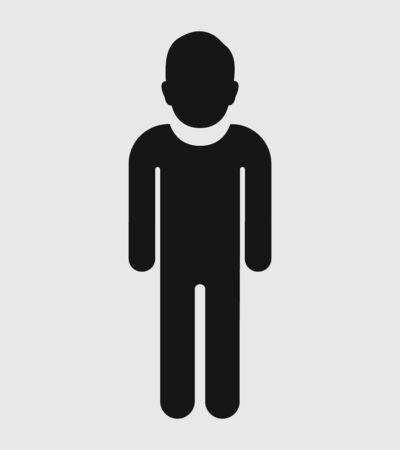 Standing Man profile Icon. Flat style vector EPS.