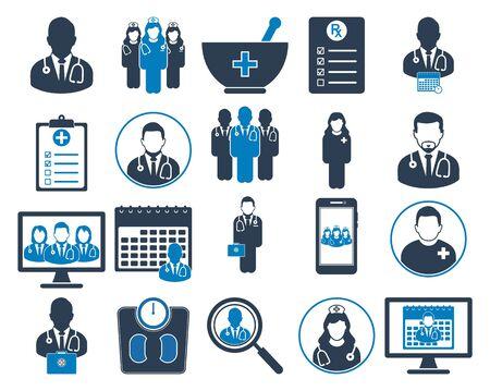 Medical and Health Icon set. Flat style vector EPS. Illusztráció