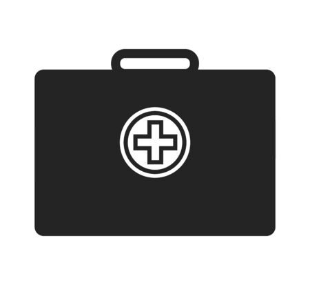 First aid kit icon. Flat style vector EPS.