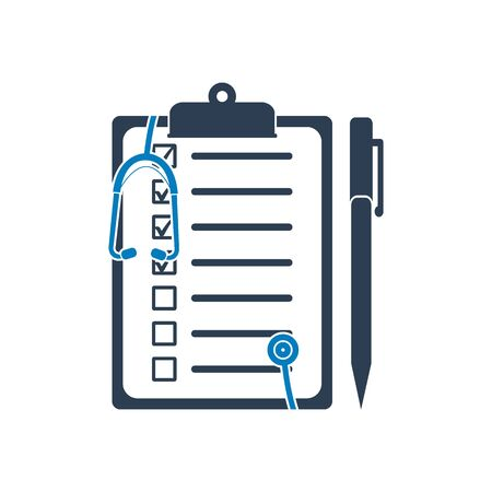 Medical report icon. Flat style vector EPS.