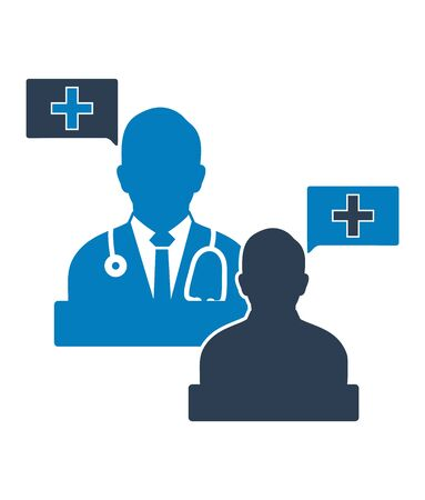 Medical consultant icon. Flat style vector EPS.