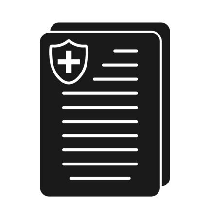 Medical and healthcare insurance icon. Flat style vector EPS. Çizim