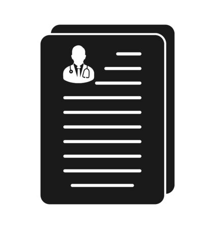 Medical Test Report Icon. Flat style vector EPS.