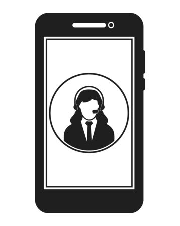 Online Customer Help Icon. Flat style vector EPS.