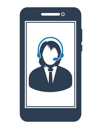 Online Customer Service Icon. Flat style vector EPS.