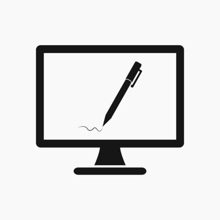 Online learning icon. Flat style vector EPS. 写真素材 - 129487313