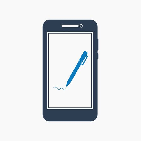 Online learning icon. Flat style vector EPS. 写真素材 - 129487320