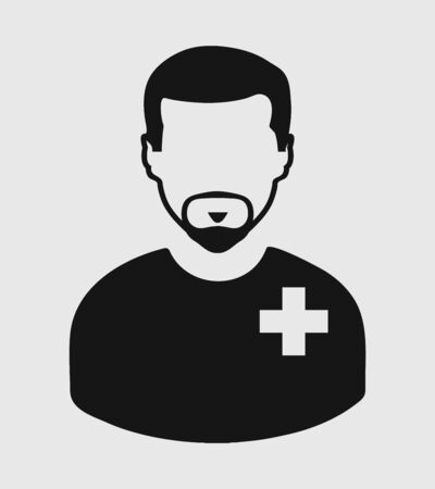 Male Patient Icon. Flat style vector EPS.