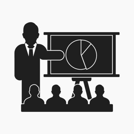 Presentation icon. Flat style vector EPS.