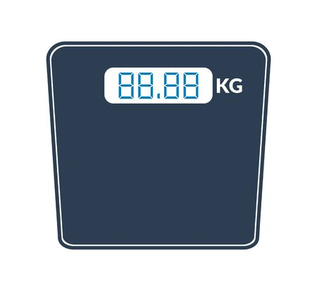 Digital Weight scale icon. Flat style vector EPS.  イラスト・ベクター素材