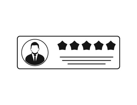 Customer Review and Feedback Icon. Flat style vector . Ilustração