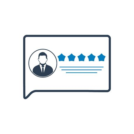 User review or Feedback Icon. Flat style vector EPS. Ilustrace