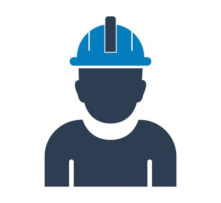 Male worker Icon. Flat style vector EPS.