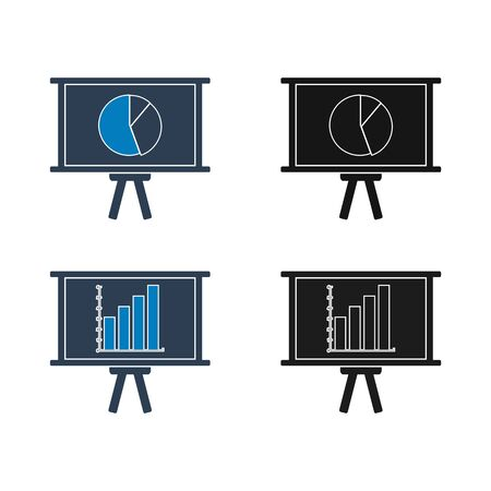 Business presentation icon set. Flat style vector EPS. 일러스트