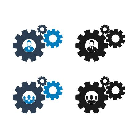 Business Solution Icon set. Flat style vector EPS.