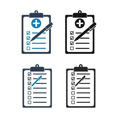 Checklist Icon set. Flat style vector EPS. Çizim