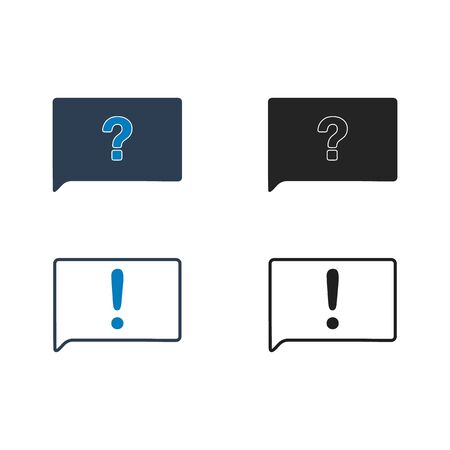 Decision Making Icon set. Flat style vector EPS.