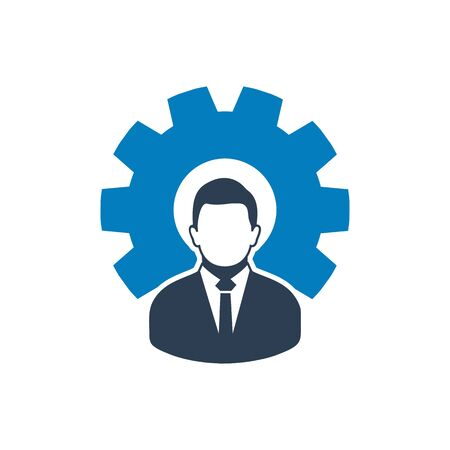 Business Management Icon. Flat style vector. Standard-Bild - 132108247