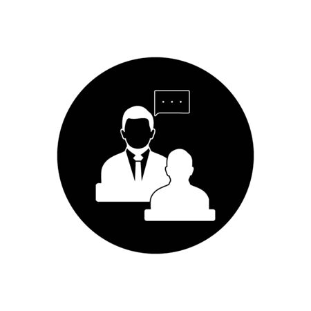 Business, Financial Adviser Icon. Rounded Button Style vector.