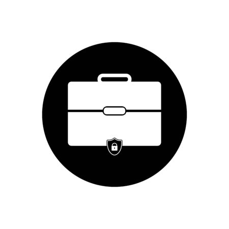 Business insurance Icon. Rounded Button Style vector.