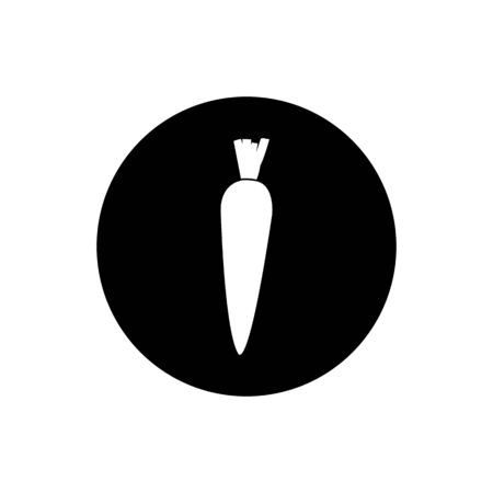 Carrot Icon. Rounded Button Style vector. Çizim