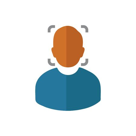 Face Recognition Icon. Flat style vector EPS.