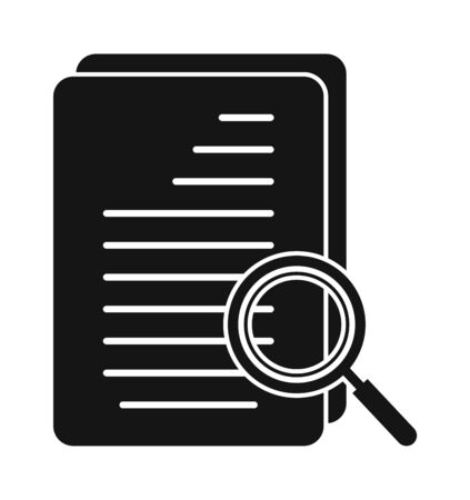 Search In document Icon. Flat style vector EPS. Çizim