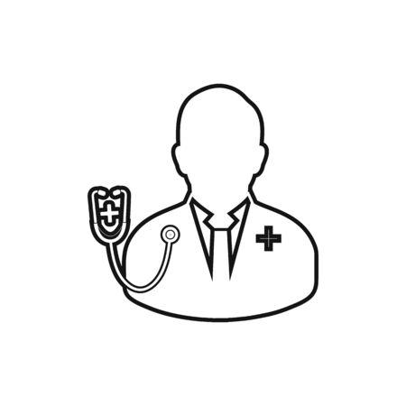 Doctor line icon. Ilustração