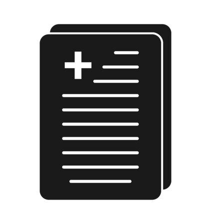 Medical Report Icon. Flat style vector Ilustração