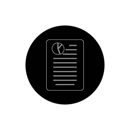 Business Document Icon. Rounded Button