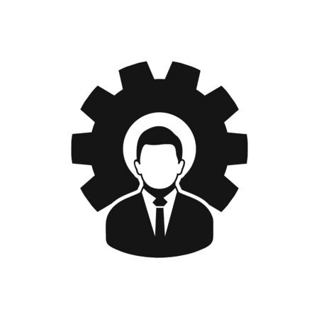 Business Management Icon. Flat style vector EPS. Çizim