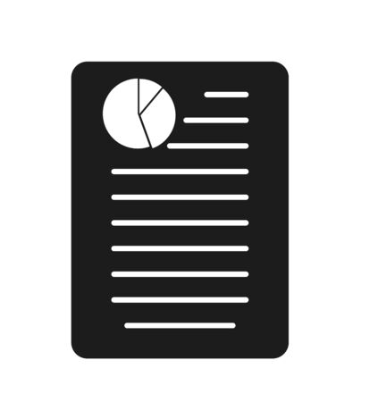 Business or Financial report Icon. Flat style vector EPS. Çizim