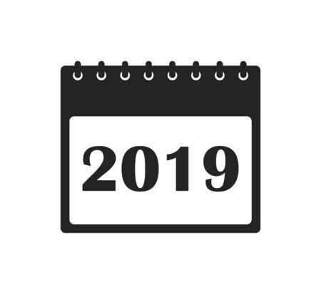 2019 Calendar Icon. Flat style vector