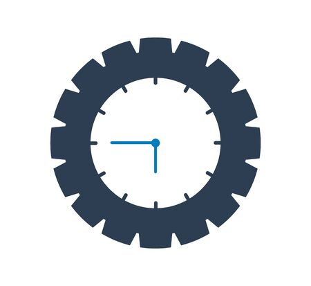 Clock Icon. Flat style vector