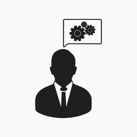 Creative Service Icon. Flat style vector Ilustração