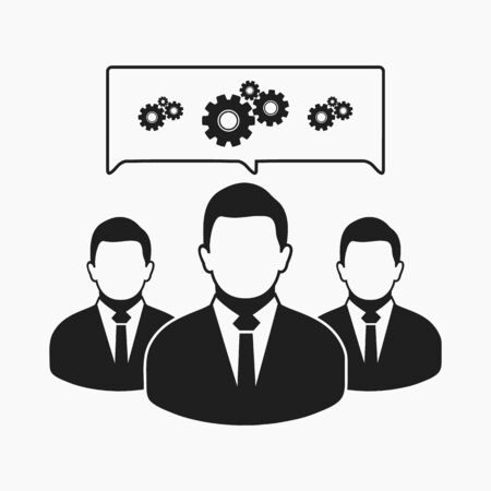 Creative Servicing Team Icon. Flat style vector