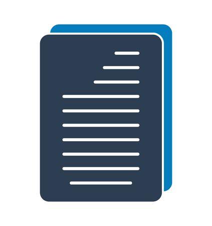 Document Icon. Flat style vector EPS. Çizim