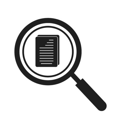Search document Icon. Flat style vector
